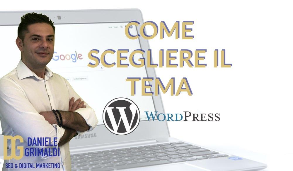 Scegliere tema wordpress