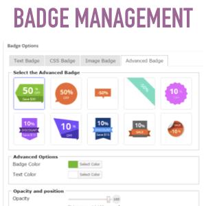 badge management woocommerce